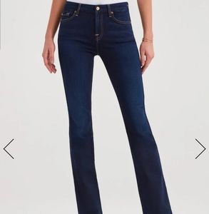 7 for all mankind skinny bootcut dark wash jeans